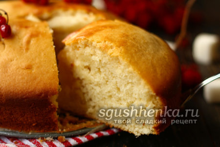 вкусный бисквит на кефире