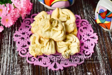 простое печенье Хризантемы из детства