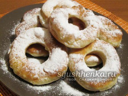 пышные пончики без дрожжей