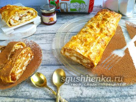 вкусный десерт из лаваша