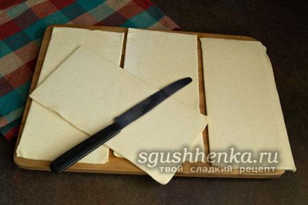 достать листы теста из упаковки