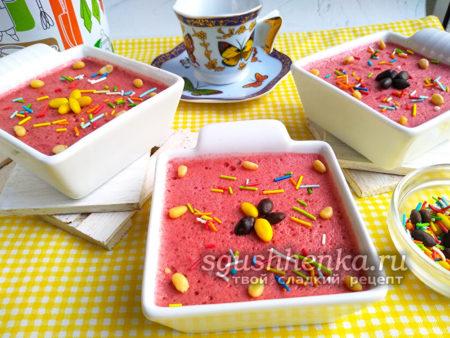 Желе из замороженных ягод с желатином рецепт для детей
