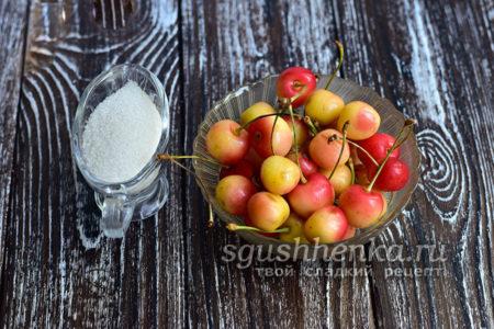 черешня и сахар