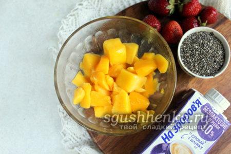 ингредиенты для чиа пудинга
