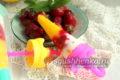 необычное фруктовое мороженое из клубники и манго