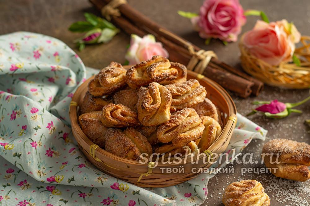"""вкусное творожное печенье """"Гусиные лапки"""""""