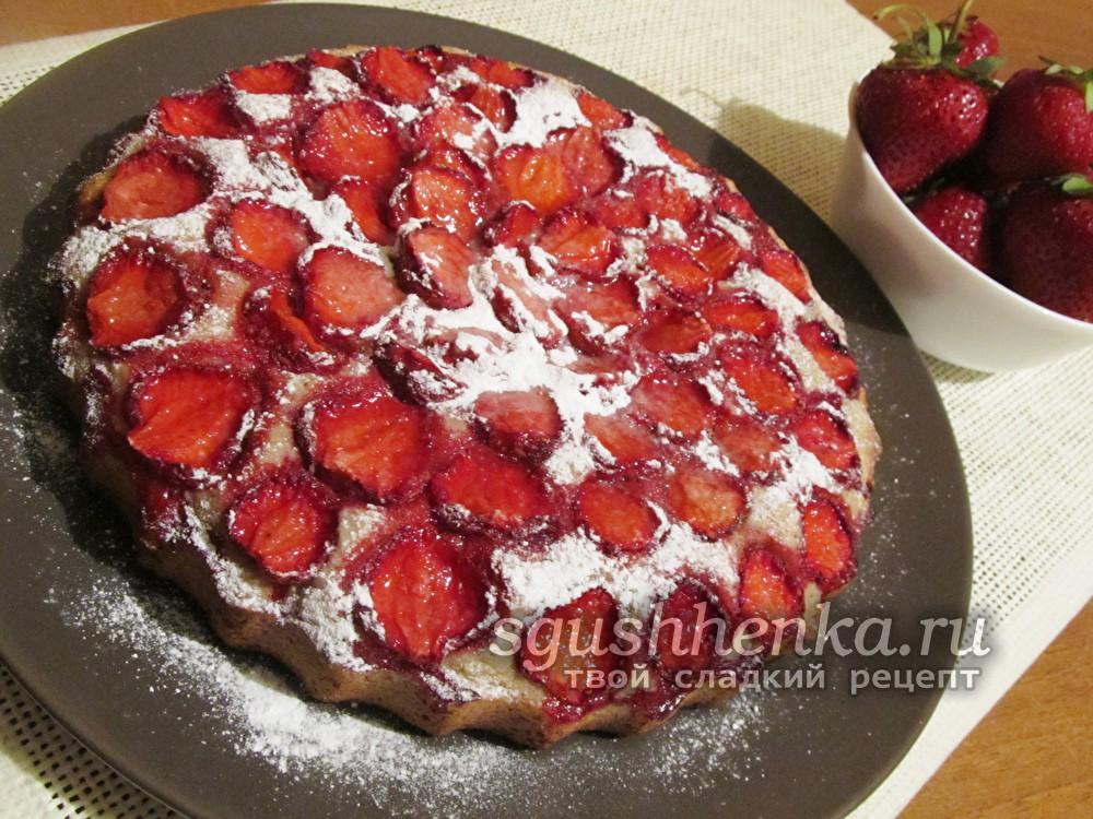 ароматный итальянский клубничный торт