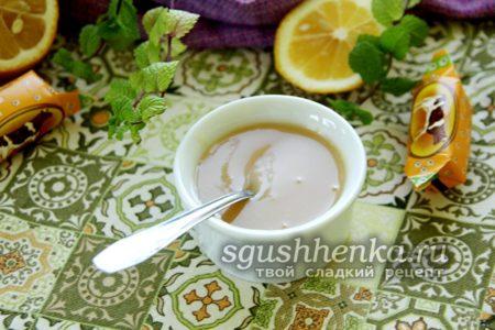 карамельный соус из конфет Коровка