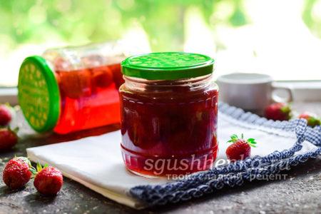 клубничное варенье без сахара