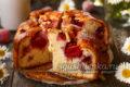 восхитительный клубничный заливной пирог