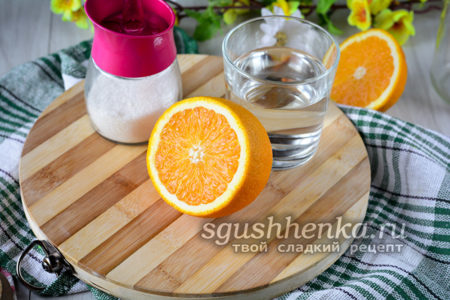 ингредиенты для апельсинового компота