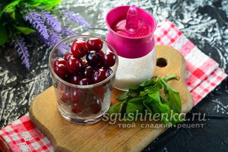 сахар, мята и вишни