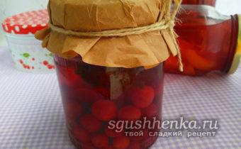 вишневый компот с шалфеем