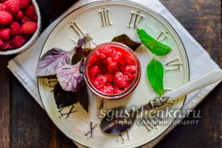 малиновое варенье с мятой и базиликом