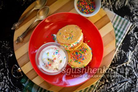 мороженое бутерброд с присыпкой