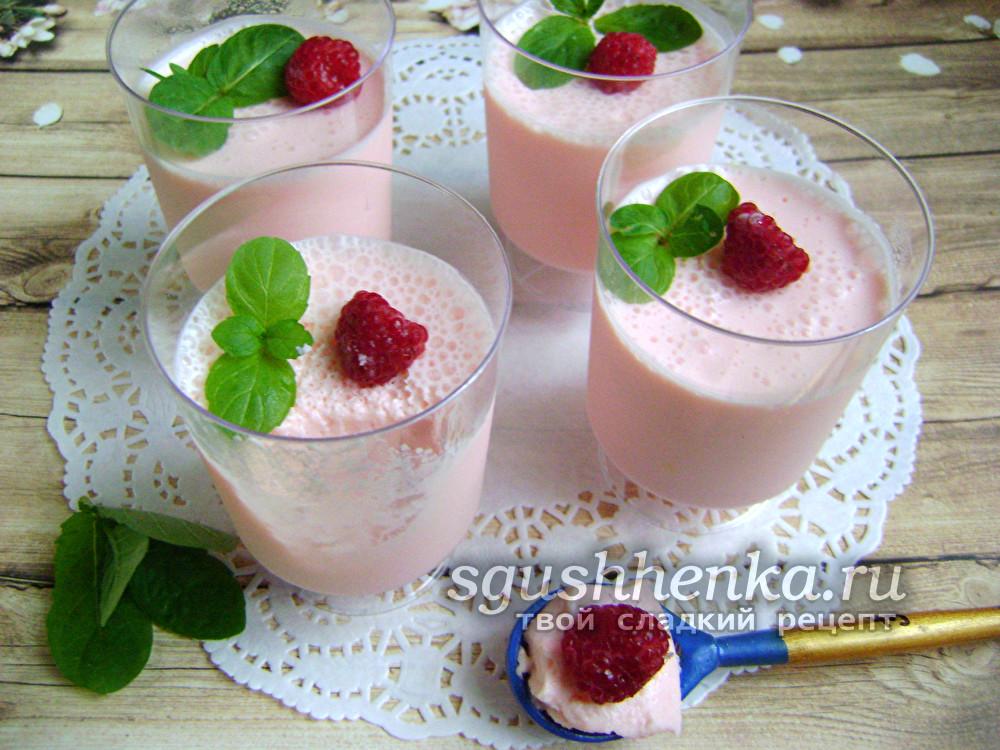 вкусный молочный десерт для детей вместо мороженого