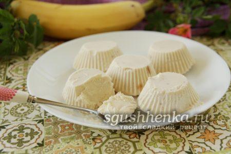 детское мороженое из творога с бананами