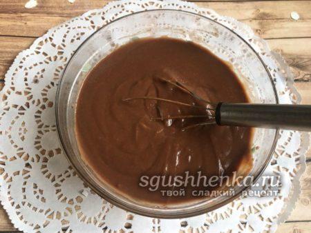 шоколадная основа для суфле