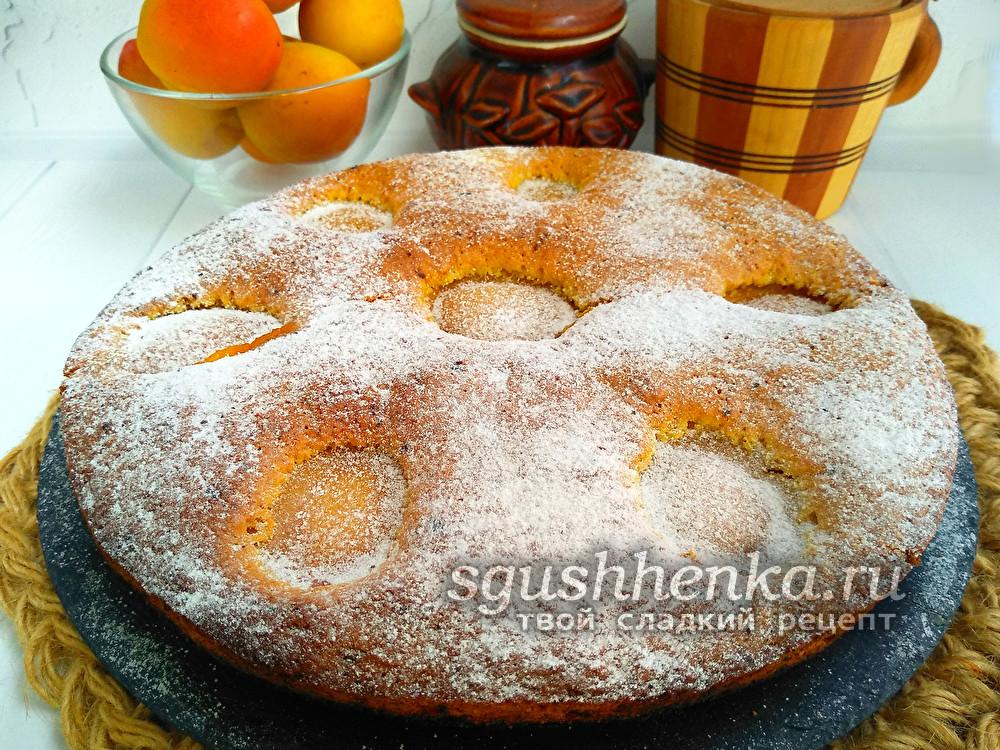 """пирог """"Восхитительный"""" с абрикосами"""