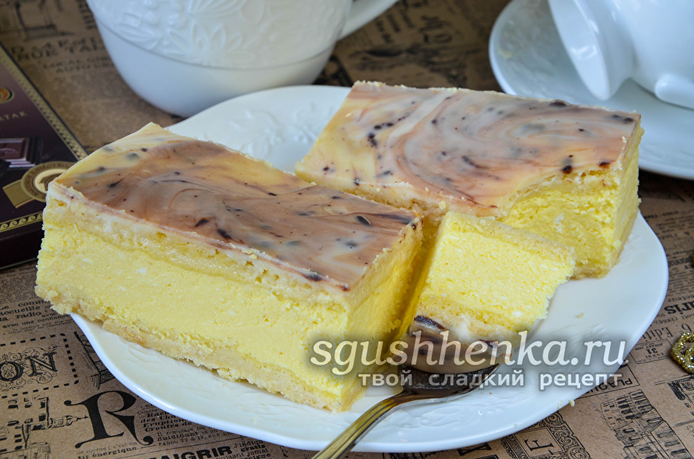 нежное пирожное «Королевский мрамор»