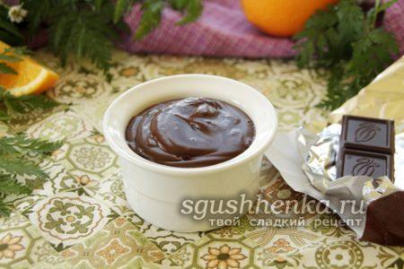 пудинг из темного шоколада