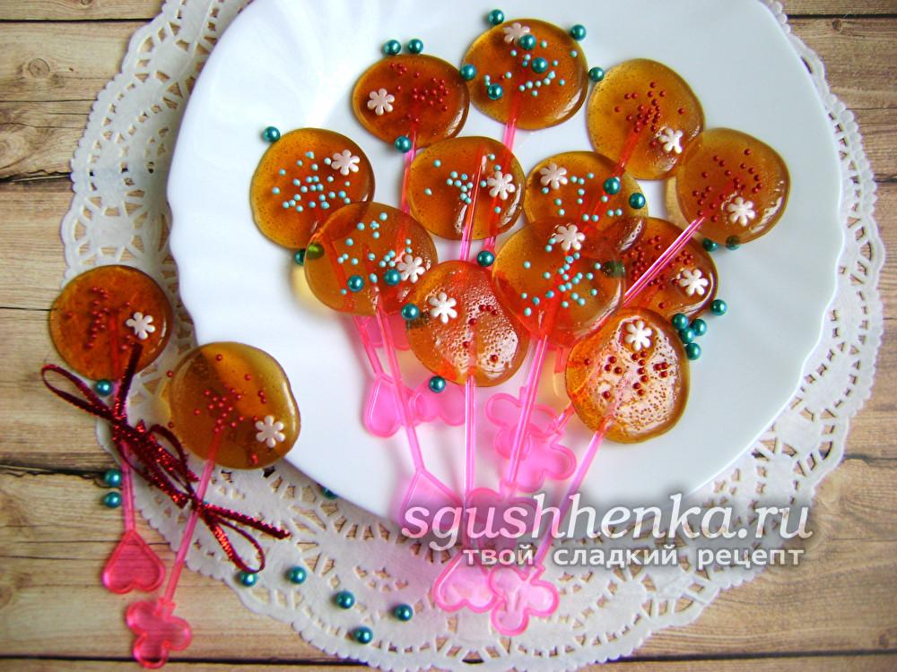 вкусные сахарные леденцы без формочек