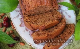 шоколадный кекс с арахисом и изюмом