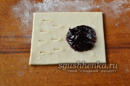 пирожок с разрезом
