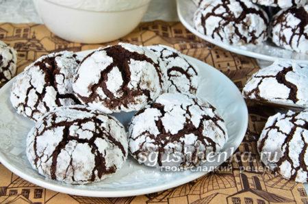 вкусное треснутое мраморное печенье