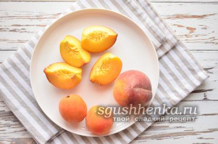 нарезать персик