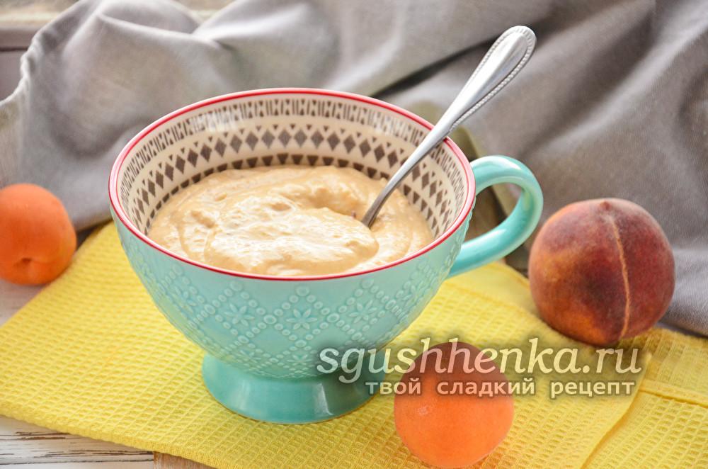 фруктовый творожный десерт