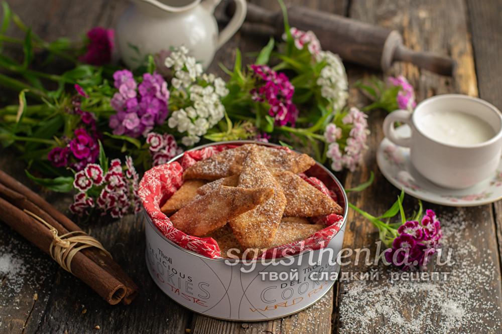 простое и вкусное хрустящее печенье