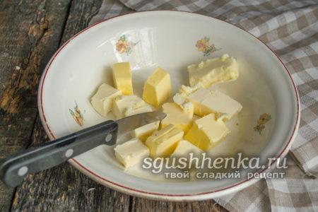 порезать на кубики маргарин