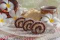 шоколадно-кокосовый ролл без выпечки