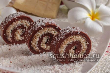шоколадно-кокосовый ролл