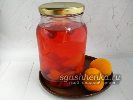 компот из абрикосов и вишни на зиму