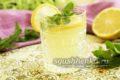 освежающий лимонад из лимона и мяты