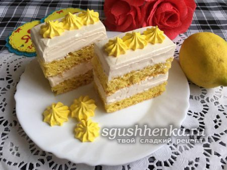 пирожные с белково-заварным кремом