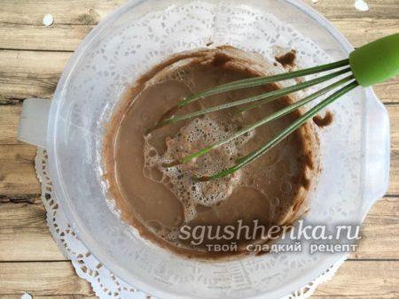 жидкое шоколадное тесто