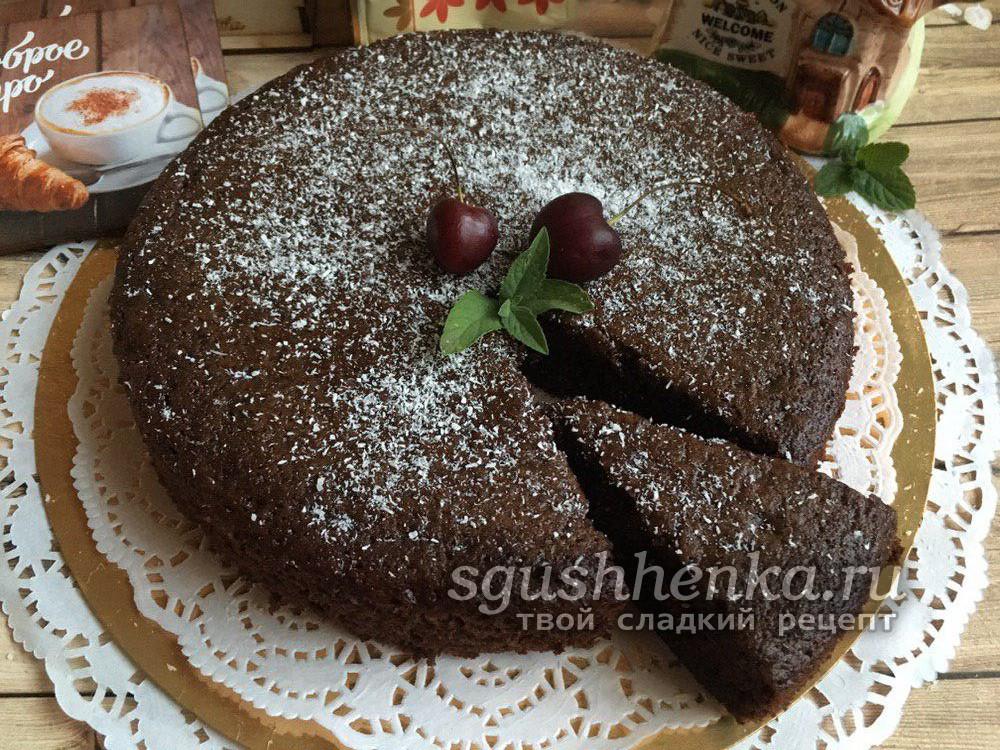 идеальный мокрый шоколадный бисквит