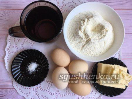 ингредиенты для пирожного Шу