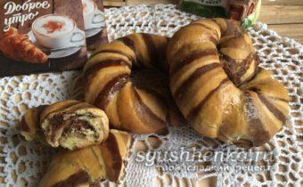 вкусные шоколадные булочки к чаю
