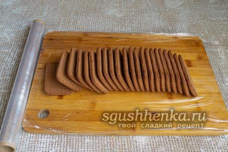 разложить печенье на пленке