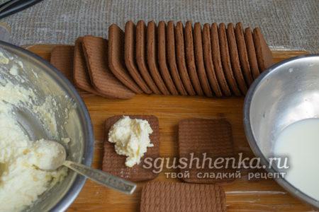 намазать печенье