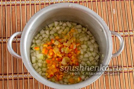 нарезать мелко апельсин