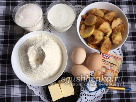 ингредиенты для заливного пирога