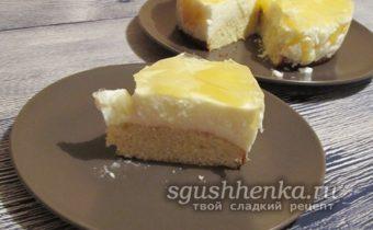 легкий и вкусный ананасовый торт