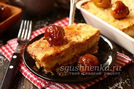 яблочный пирог с манкой