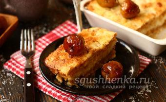 болгарский яблочный пирог с манкой