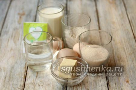 ингредиенты для эклеров